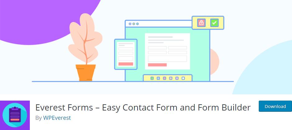 افزونه Everest Forms - ساخت و طراحی ساده فرم تماس و فرم های کاربردی